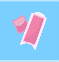 Lustration of hair removal wax stripe vector