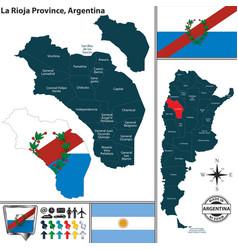 Map of la rioja province argentina vector