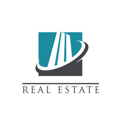 modern building logo icon vector image