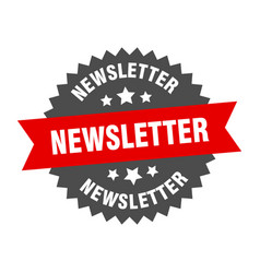 Newsletter sign newsletter red-black circular vector