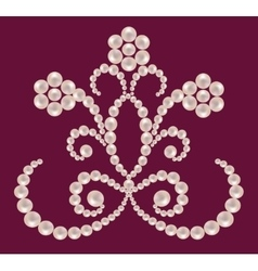 Pattern of pearls vector