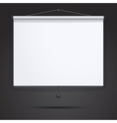 Presentation Empty Projection screen vector image