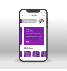 Purple my design ui ux gui screen for mobile apps vector