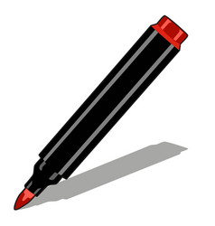 red marker isolated on white background vector image
