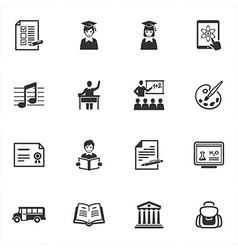School and Education Icons - Set 2 vector