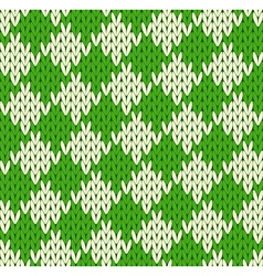Seamless geometrical knitted pattern vector image