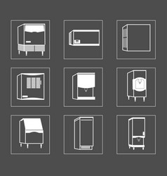 simple set of fridge related line icons vector image
