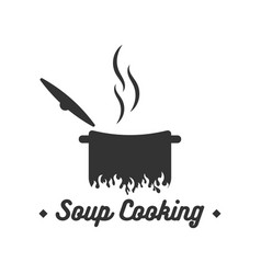 soup cooking logo design inspiration vector image