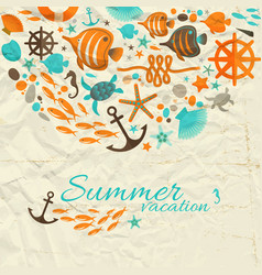 summer vacation design composition vector image