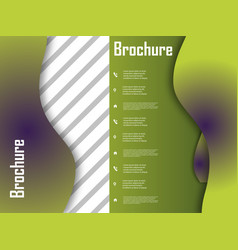 Template design for brochure annualreport vector