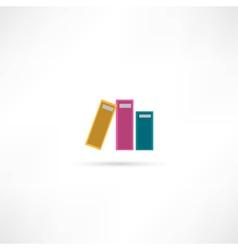 three office folders icon vector image