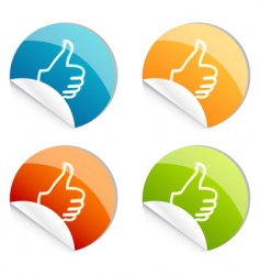 thumbs up logo vector image