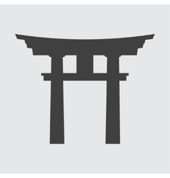 Torii gate icon vector