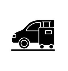 Transfer black glyph icon vector