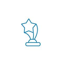 triumphal achievement linear icon concept vector image