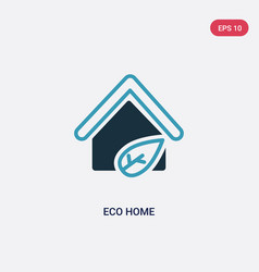 Two color eco home icon from smart house concept vector