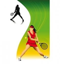 woman in tennis vector image