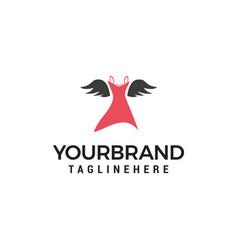 womens clothes logo design concept template vector image