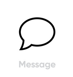 write message chat icon editable line vector image