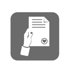 customer service icon with document sign vector image