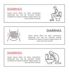 diarrhea vector image