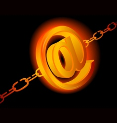 Email chains vector