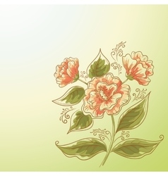 Holiday Background Flower and Leaves vector image vector image