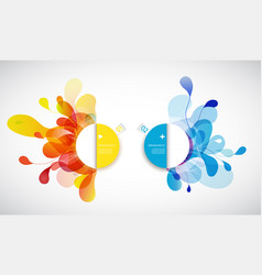 set of abstract colored flower background with vector image vector image