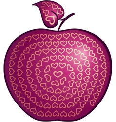 Apple of love vector image