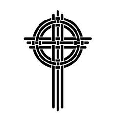 cross as a christian symbol vector image vector image