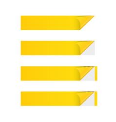 sticker banner yellow vector image