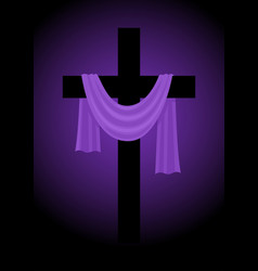 a cross with purple sash vector image