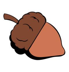 acorn icon cartoon vector image