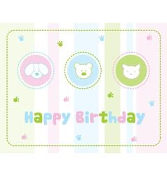 Childrens birthday card vector image