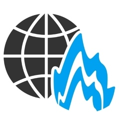Global fire icon vector