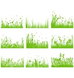 grass set nine vector image vector image