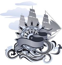 sea design vector image vector image