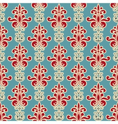 seamless floral wallpaper pattern vector image vector image