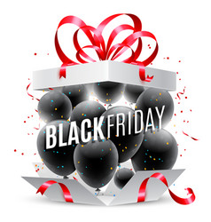 black friday sale announcement vector image vector image