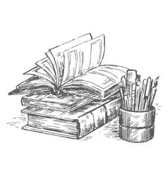 book set vector image vector image