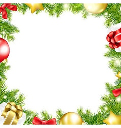 Christmas Background With Ribbon And Xmas Ball vector image vector image