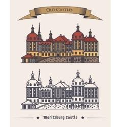 Moritzburg germany castle in saxony exterior vector