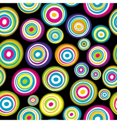 Seamless with colored circles vector image vector image