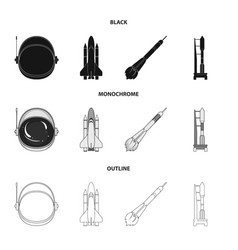 A spaceship in space a cargo shuttle a launch vector