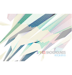 Abstract colors spikes scene design vector