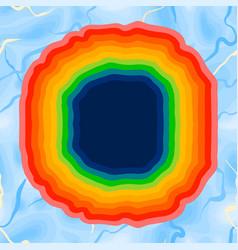 abstract vibrant design wavy striped rainbow vector image