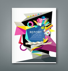 Annual report geometric abstract artist vector