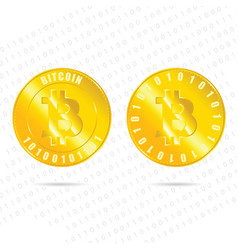 Bitcoin virtual digitally money vector
