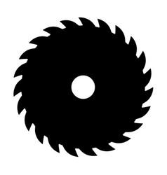 black circular saw sign or icon symbol of vector image