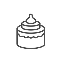 cake line outline modern icon vector image